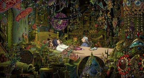 ハウルの魔除けの寝室